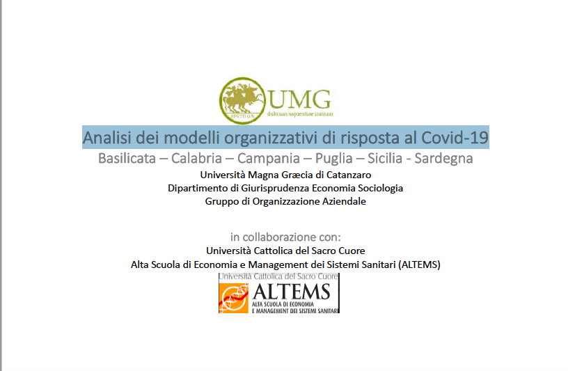 Analisi dei modelli organizzativi di risposta al Covid-19